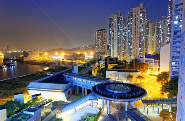 hong kong public estate at night Stock photo © cozyta