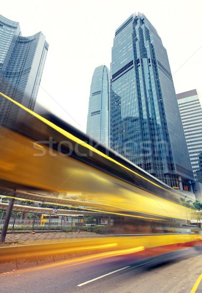 Modern şehir araba Bina ışık sokak Stok fotoğraf © cozyta