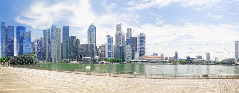 Singapore city skyline Stock photo © cozyta