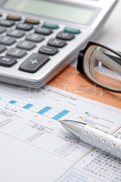 Stock diagram szemüveg üzlet kék vállalati Stock fotó © cozyta
