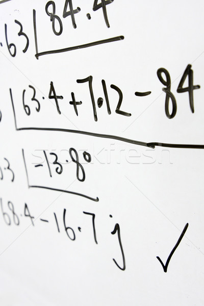 formulas on a whiteboard  Stock photo © cozyta