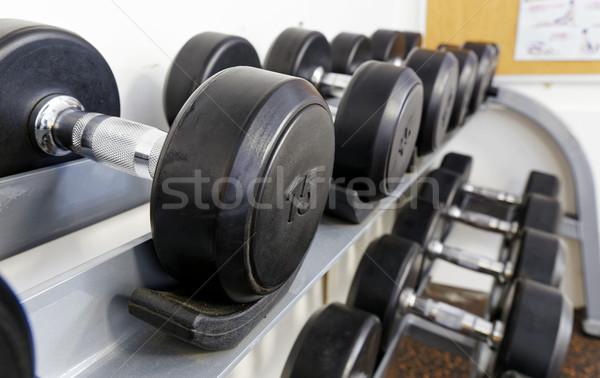 Photo stock: Sport · haltères · modernes · club