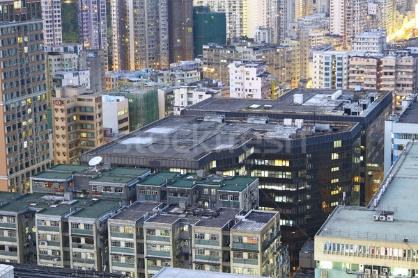 hongkong urban area in sunset moment Stock photo © cozyta