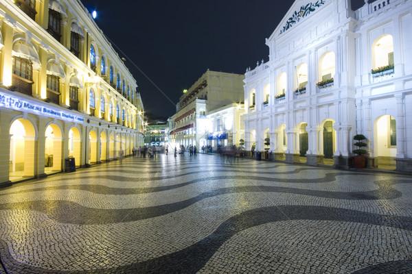 Largo do Senado, Senado Square, Macau Stock photo © cozyta