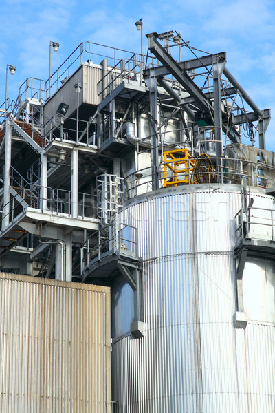 Stock photo: Part of a big oil refinery