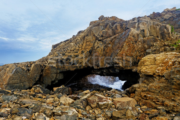 Crab hole, landmark in hongkong Shek O Hok Tsui D'Aguilar Penins Stock photo © cozyta