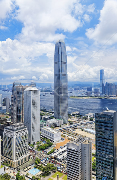 Hongkong központi pénzügy belváros város tájkép Stock fotó © cozyta