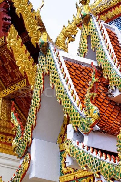 Antica tempio costruzione costruzione asian statua Foto d'archivio © cozyta