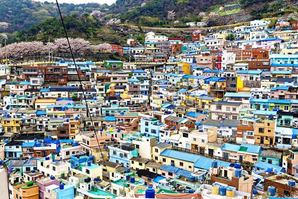 Cultura frazione Corea del Sud città strada vernice Foto d'archivio © cozyta