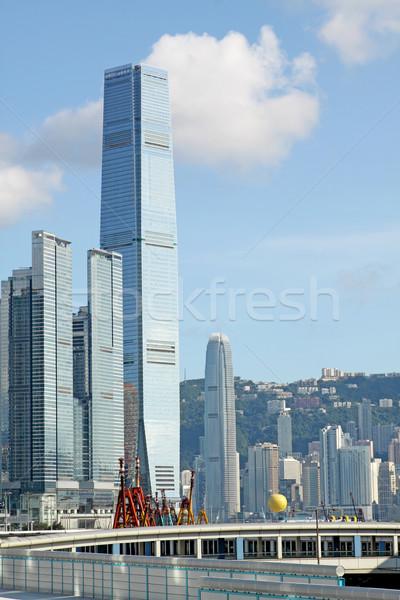 Гонконг Skyline после полудня бизнеса служба город Сток-фото © cozyta