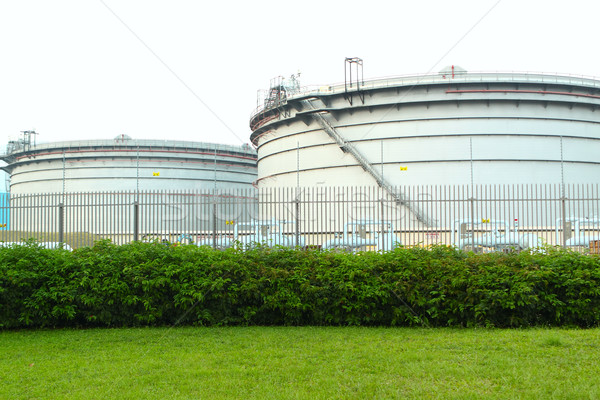 gas tanks in the industrial estate, suspension energy for transp Stock photo © cozyta