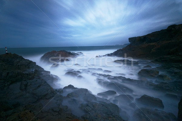 Hermosa niebla océano fondo belleza Foto stock © cozyta