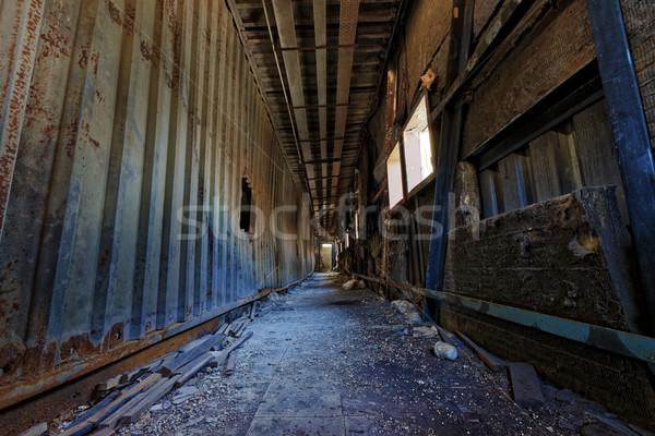 Romok gyár kár ítéletnap rombolás ház Stock fotó © cozyta