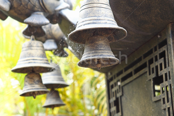 Stock photo: Wind chime hanging on a Chinese temple