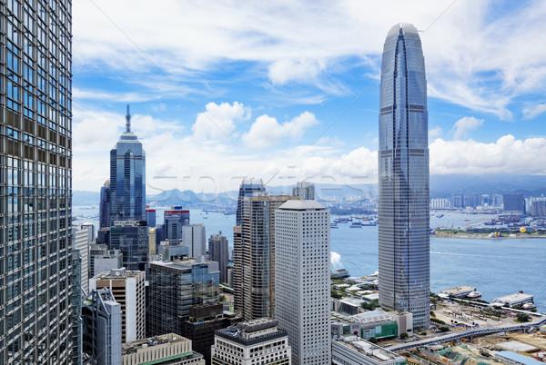 Hong Kong skyline Stock photo © cozyta