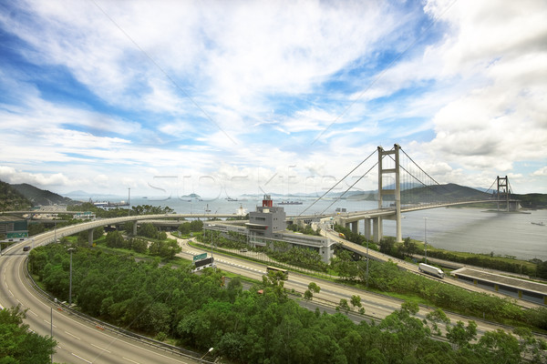 Tsing ma bridge in Hong Kong  Stock photo © cozyta