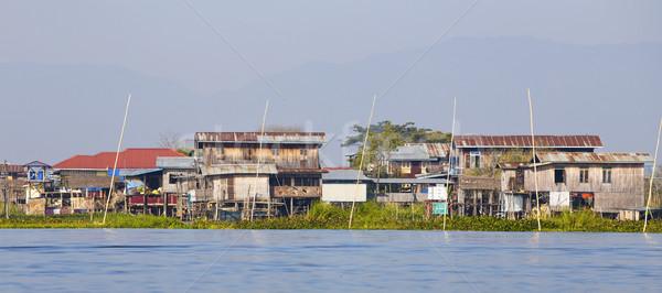 озеро Мьянма традиционный деревне воды Сток-фото © cozyta