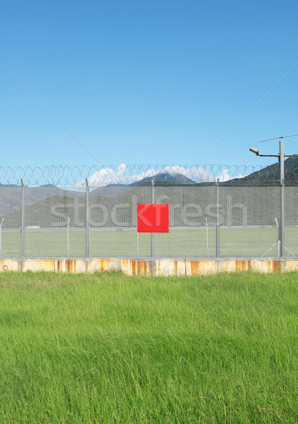 metal fence in the nature Stock photo © cozyta