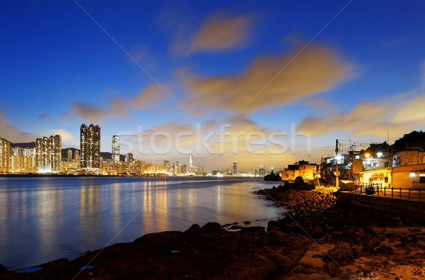 Hong Kong fishing valley at sunset Stock photo © cozyta