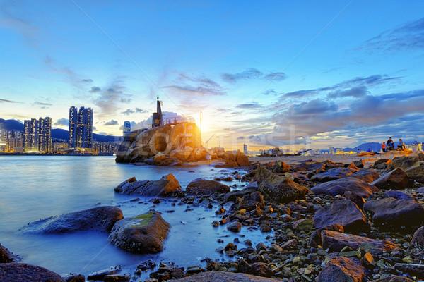 Hong Kong Sunset Stock photo © cozyta