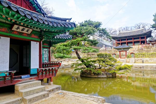 日 ソウル 建物 光 通り 背景 ストックフォト © cozyta