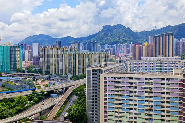 Hong Kong público edificios mojón león Foto stock © cozyta
