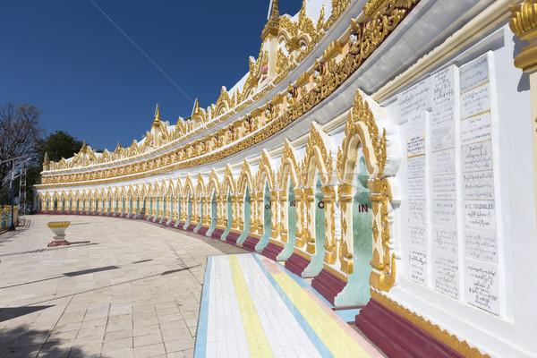 храма Мьянма моста путешествия статуя Будду Сток-фото © cozyta