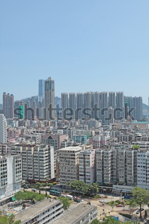 crowded buildings Stock photo © cozyta