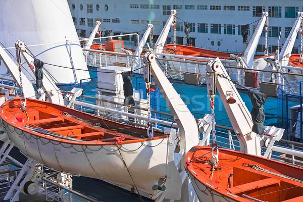 Salvataggio barca arancione nave help vita Foto d'archivio © cozyta