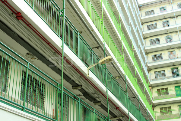 Hong Kong public housing apartment block  Stock photo © cozyta