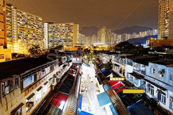 Hongkong tradtional market Stock photo © cozyta