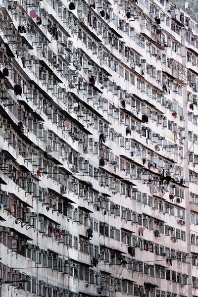 Starych Hongkong dzień domu retro Zdjęcia stock © cozyta