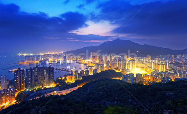 Hong Kong Tuen Mun skyline and South China sea Stock photo © cozyta