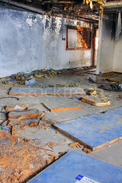 Discarded building, one room after fire Stock photo © cozyta