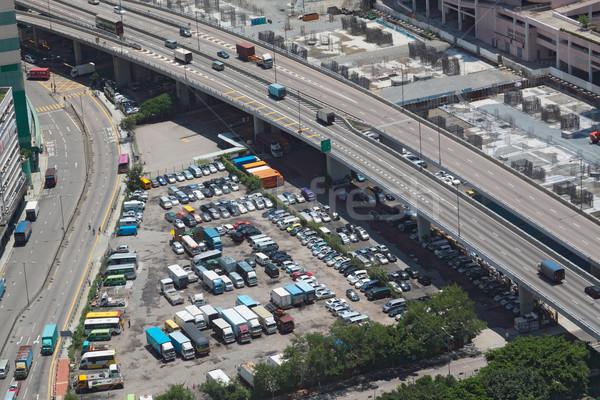 Parking ville bus trafic chinois Asie Photo stock © cozyta
