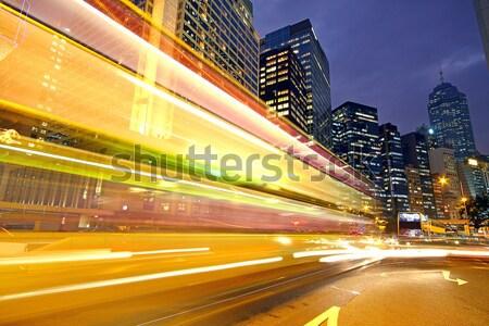 движения скорости ночь дороги аннотация пейзаж Сток-фото © cozyta