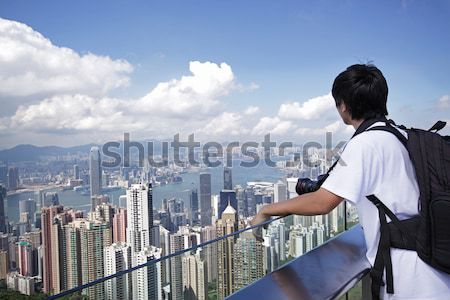 Hong Kong skyline from Victoria Peak Stock photo © cozyta