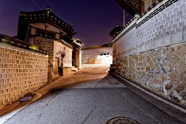 Histórico distrito Seúl Corea del Sur noche casa Foto stock © cozyta