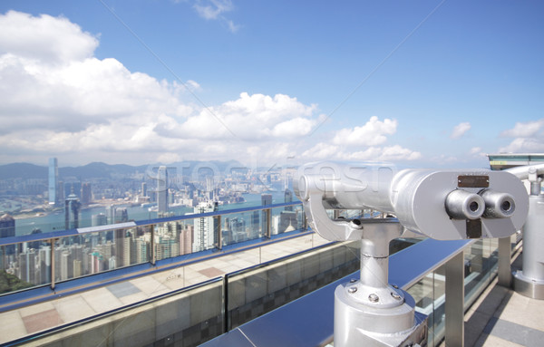View point with telescope near  hongkong,china Stock photo © cozyta