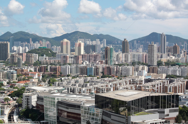 view over the modern city during the day  Stock photo © cozyta