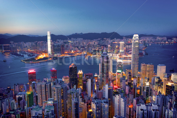 hongkong in print style Stock photo © cozyta