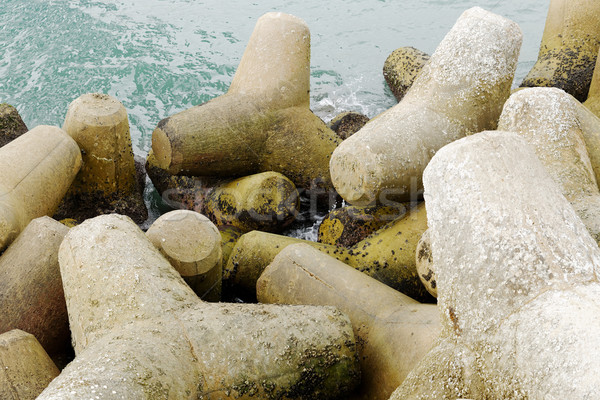 Breakwater  Stock photo © cozyta