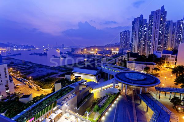 Hong Kong público noche multitud ventana Foto stock © cozyta