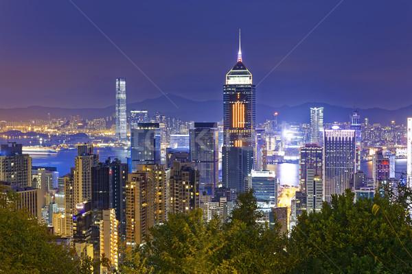Hong Kong cityscape harbor view  Stock photo © cozyta