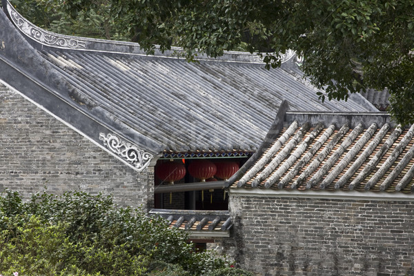 Chinese tiles roofs Stock photo © cozyta