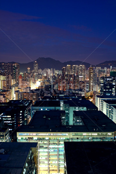 asia city downtown wide shot, hong kong Stock photo © cozyta