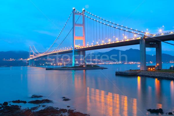 Tsing ma bridge sunset Stock photo © cozyta