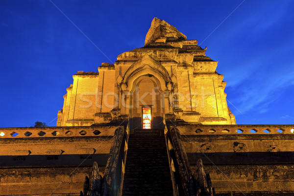 chedi luang temple in chiang mai,thailand Stock photo © cozyta