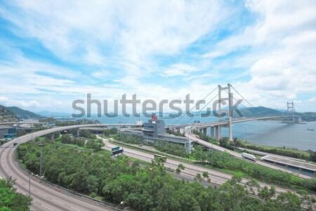 Ponte acqua panorama barca aeroporto nave Foto d'archivio © cozyta