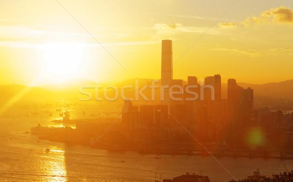 HongKong sunset Stock photo © cozyta
